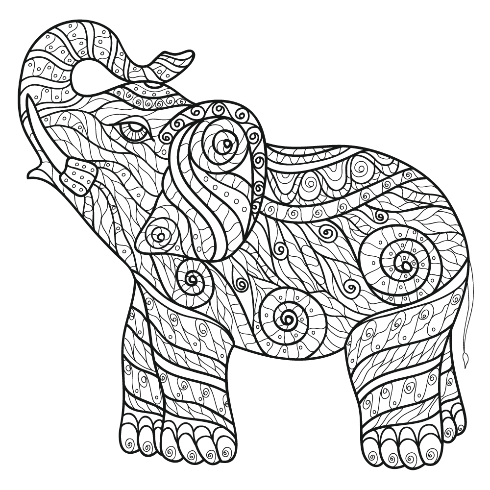 elephant monster high coloring pages - photo#16