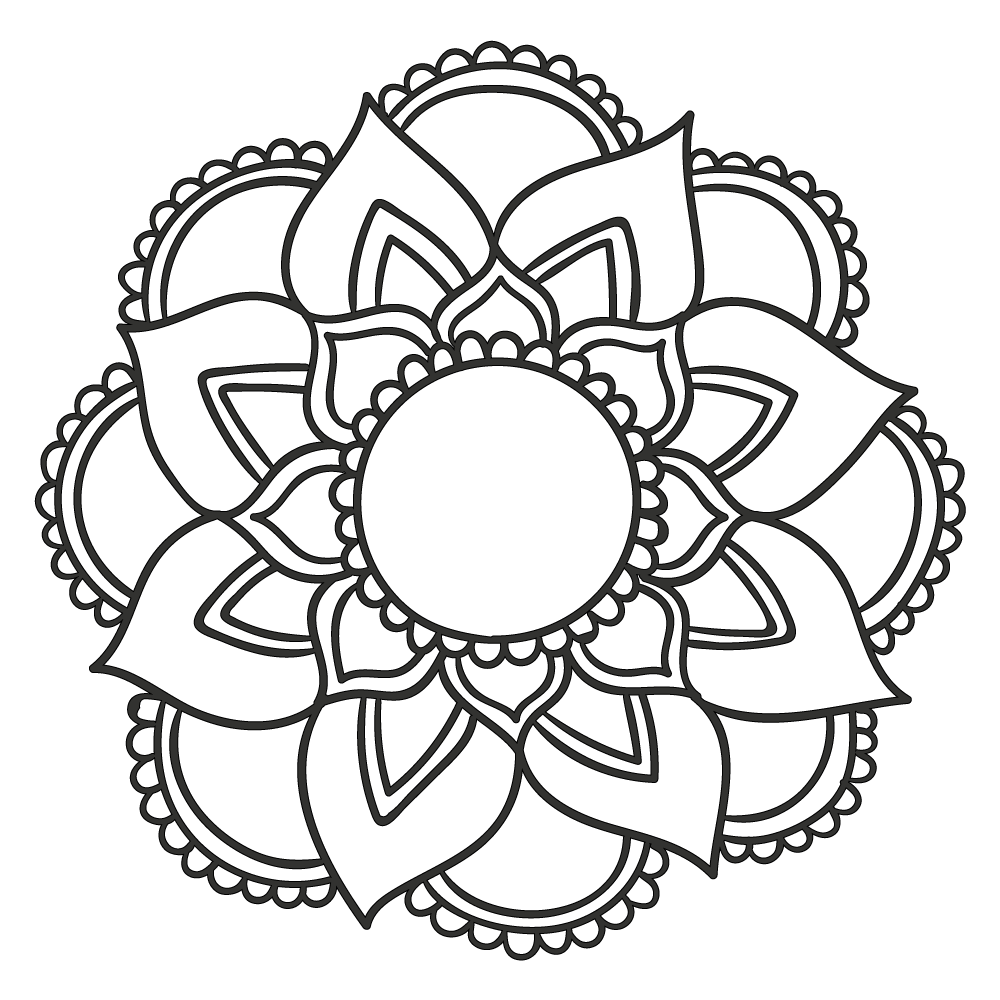 Mandala Floral 14 on free printable mandala patterns